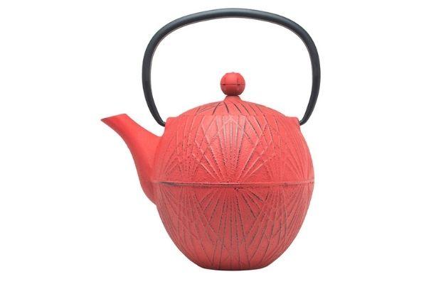 Чайник чугунный заварочный красный