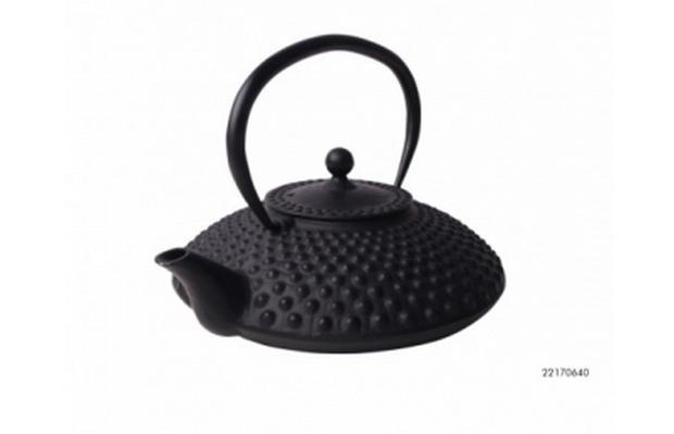 728Заварочный чайник с ситечком, плоский