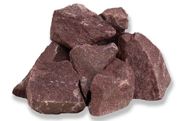 Камень для бани малиновый кварцит колотый