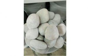Слайд #2 | Камень для бани белый кварцит обвалованный