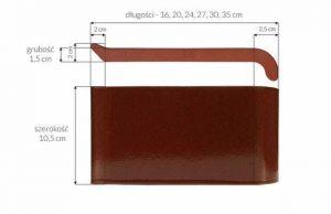 Слайд #2 | Керамический клинкерный отлив ZCB Шоколад 16 см