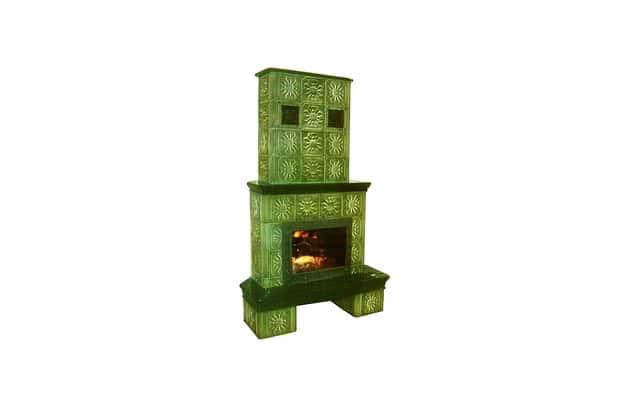 Камин Васильковый зелёный