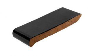 Слайд #3 | Керамический подоконник (отлив) Golowczynski Темно-коричневый 28 см