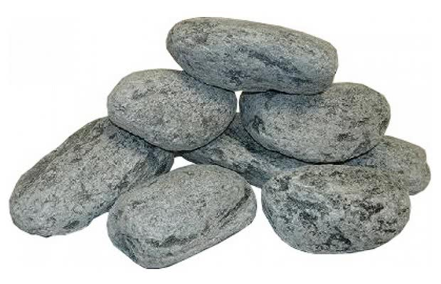 Камень для бани талькохлорит обвалованный