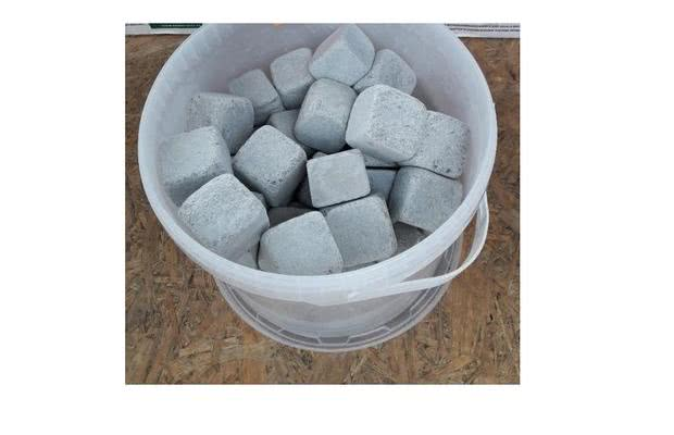 Камень для бани талькохлорит обвалованный в кубиках