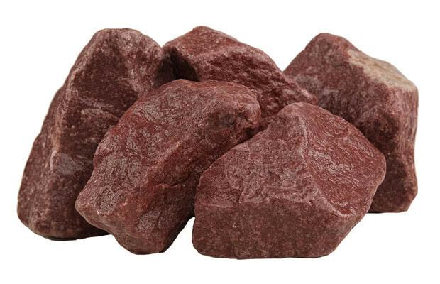 Камень для бани малиновый кварцит обвалованный