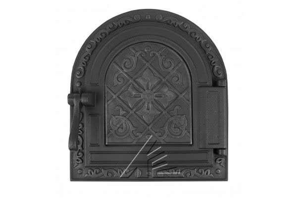 Дверка топочная герметичная «Очаг» крашеная ДТГ-10