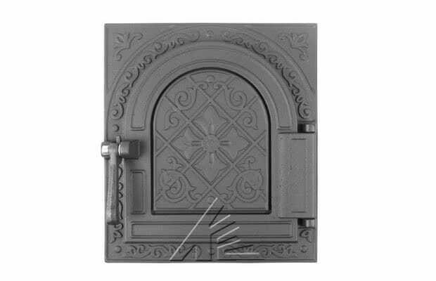 Дверца топочная герметичная «Очаг-2» крашеная ДТГ-11