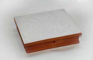 Слайд #2 | Изразец рядовой (печной кафель) глазурированный Васильковый