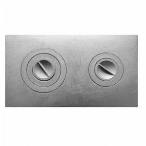 Плита цельная с двумя отверстиями для конфорок П2-3