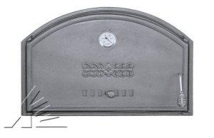Слайд #2 | Дверка топочная DCHD1T, DCHD2T с термометром