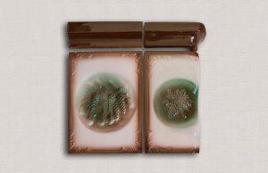 Слайд #3 | Изразец рядовой (печной кафель) глазурованный Беловежская Пуща