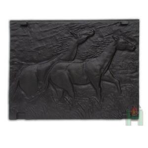 5837Плита для камина (задняя стенка) «Лошади»