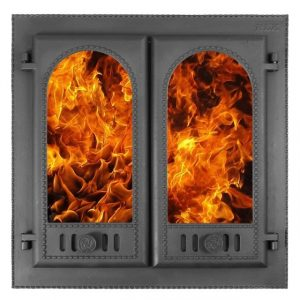 Слайд #1 | Дверка каминная крашеная «Горница2» ДК-8С