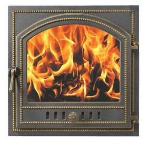 Слайд #1 | Дверка Везувий каминная 205 Бронза