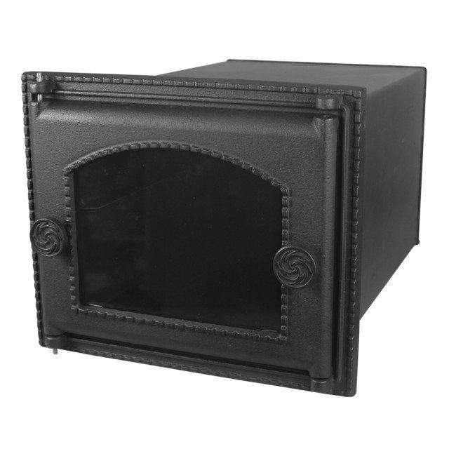 7265Духовка печная стальная со стеклом без решетки лист 1,2 мм ДПС-ДТ-6АC