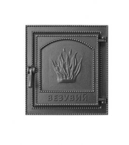 Слайд #1 | Дверка Везувий каминная 211 Антрацит