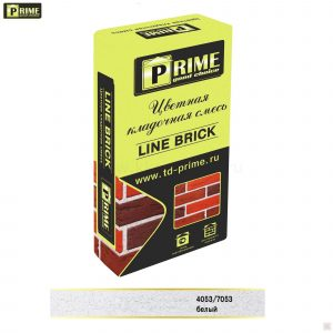 Слайд #1   Цветная кладочная смесь Prime «Line Brick Klinker» Белый
