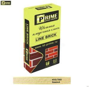 Слайд #1 | Цветная кладочная смесь Prime «Line Brick Klinker» Бежевый