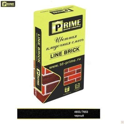 7608Цветная кладочная смесь Prime «Line Brick Klinker» Черный