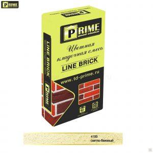 Слайд #1   Цветная кладочная смесь Prime «Line Brick Klinker» Светло-бежевый