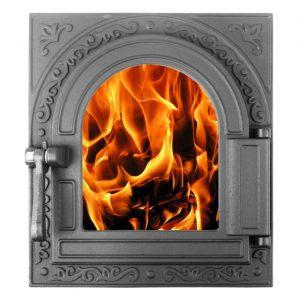 Слайд #1 | Дверца топочная герметичная со стеклом «Очаг-2» крашеная ДТГ-11С
