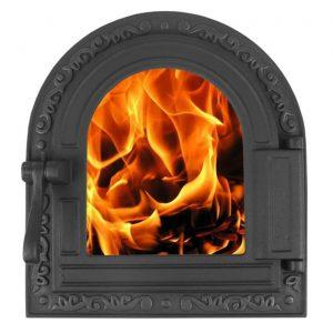 Слайд #1 | Дверка топочная герметичная со стеклом «Очаг» крашеная ДТГ-10С