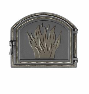 Слайд #1 | Дверка Везувий каминная 218 Бронза