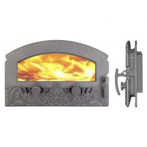 Слайд #2 | Дверца каминная герметичная со стеклом «Зной» ДКГ-5С-Э